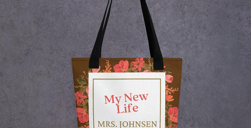 Personalised Wedding Tote bag New Life Mrs Johnson EST. 10.09.20