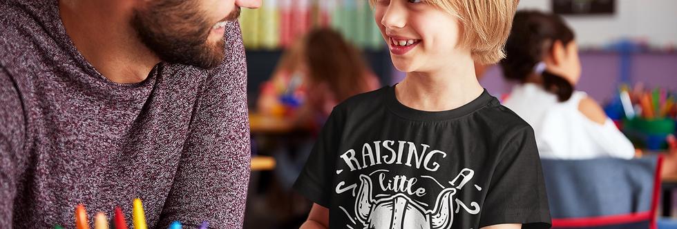 Raising A Little Viking Cildrens Youth Boy T-Shirt