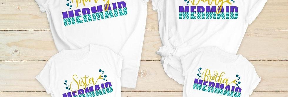 Mermaid Family t-shirt