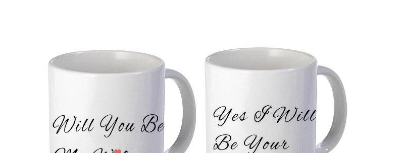 Will Yo Be My Wifey Yes I Will Be Your Wifey 2 Set Of 11oz Mug