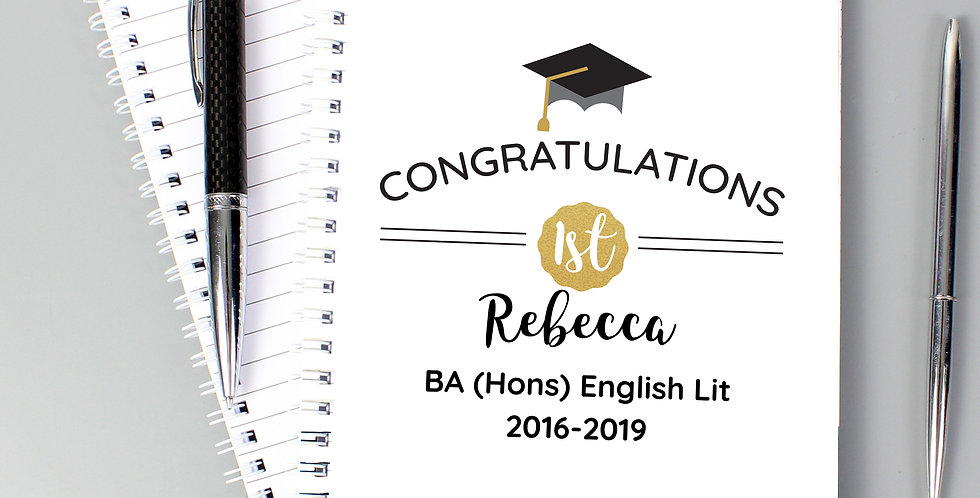 A5 Notebook Personalised Graduation