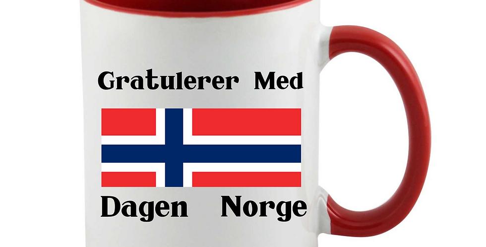 Gratulerer Med Dagen Norge Mug