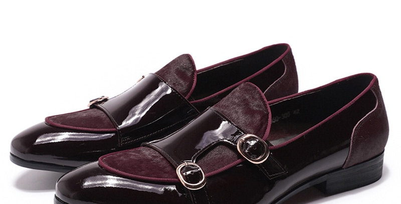 Loafers Gentlemen Banquet Party Dress Patent Leather Shoes