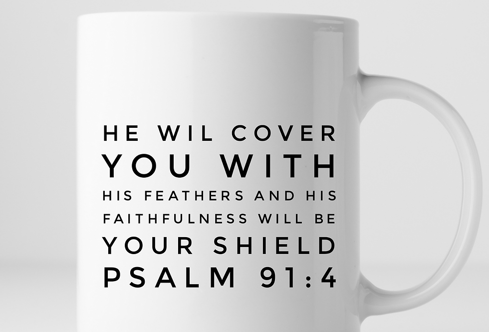 He Will Cover You With His Feathers And His ..Mug