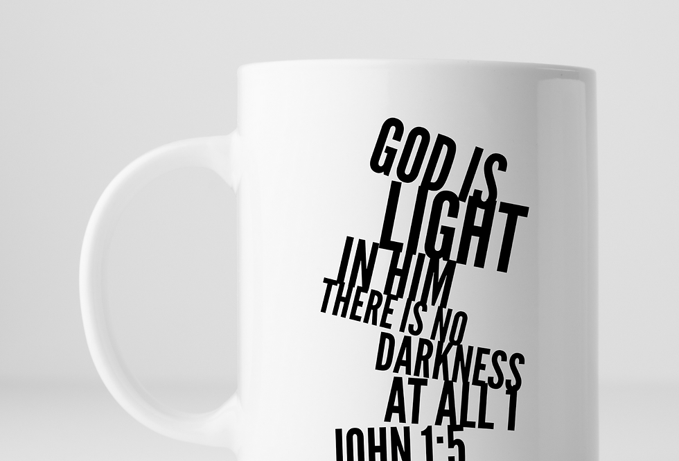 God Is Light In Him There Is No ...Mug