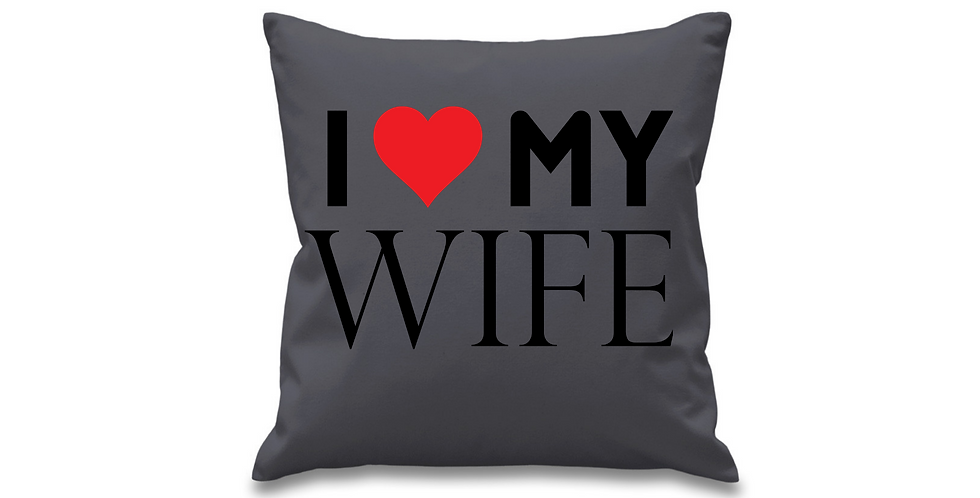 WeddingCushion Cover I Love My Wife