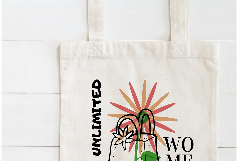 I Am Unlimited Women Cotton Bag