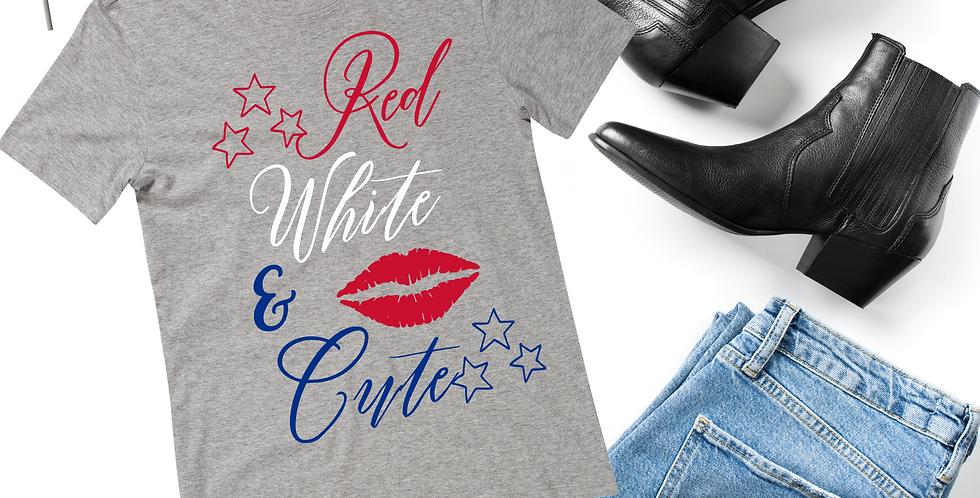 Red White & Cute T-Shirt