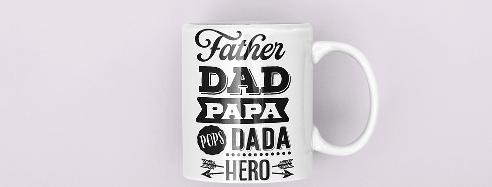 Father,Dad,Papa,Dada,Pups,Hero 11oz Mug