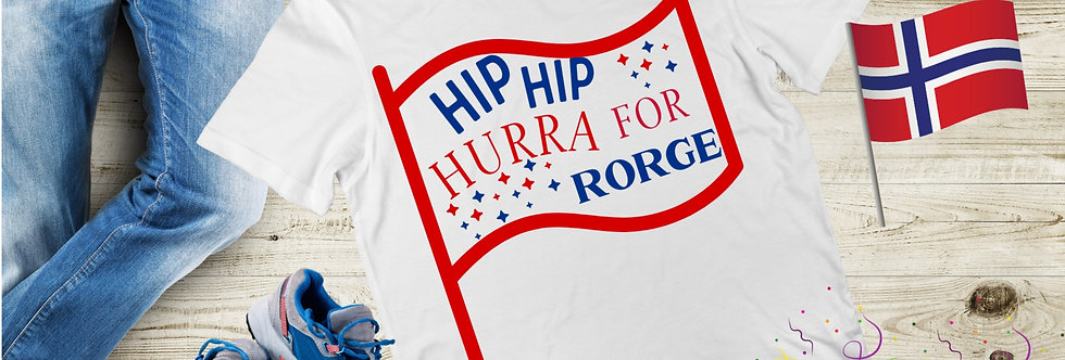 Hip Hip Hurra For Norge T-Shirt