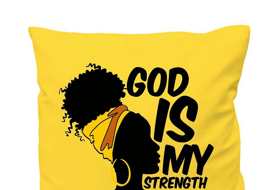 God Is My Strength Cushion