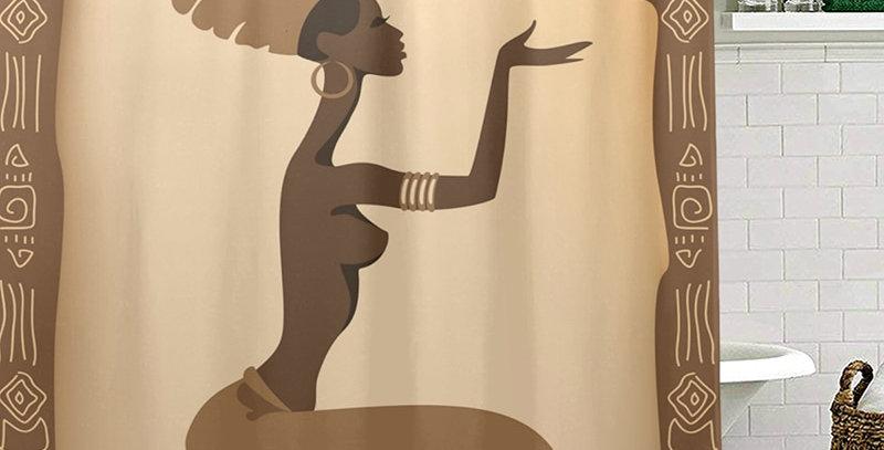 Eco-Friendly African Women Shower Curtains Waterproof