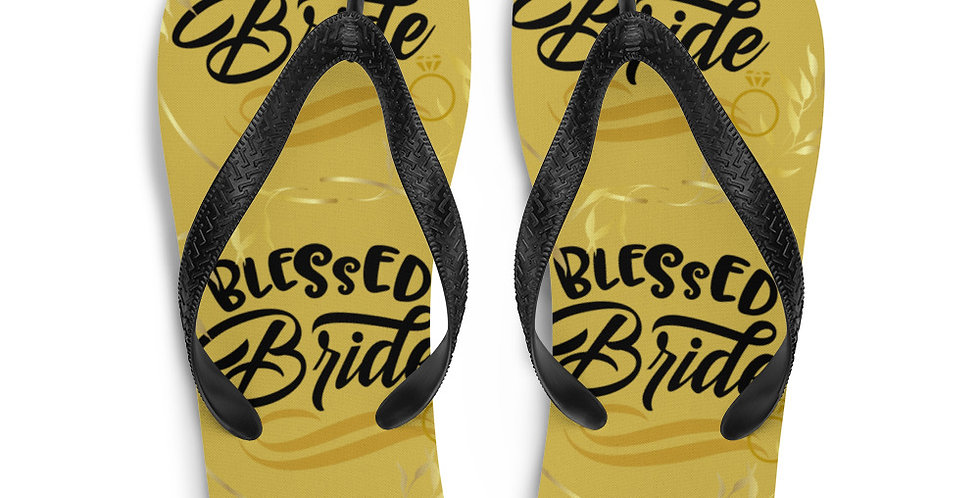 Wedding Flip-Flops Blessed Bride