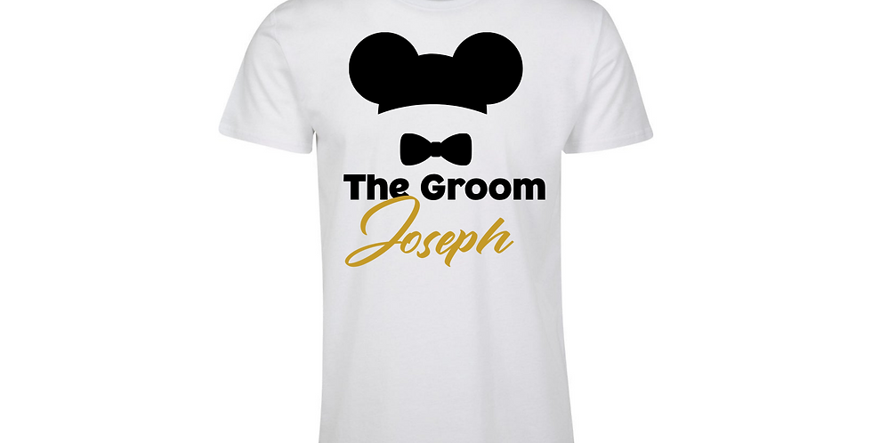 Personalised The Groom T-Shirt