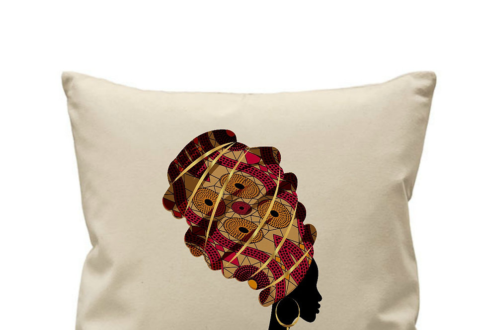 Colourful African Turban Cushion