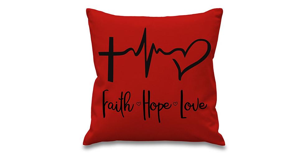 Wedding Cushion Cover Faith Hope Love