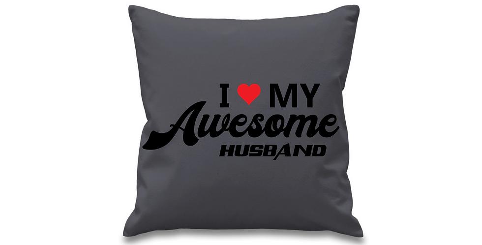 Wedding Cushion Cover I Love My Awesome Husband