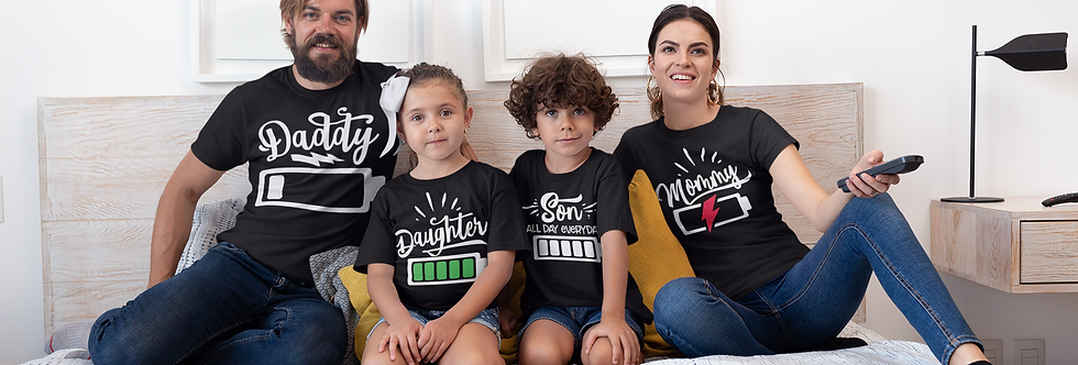 Daddy Daughter Son Mommy T-Shirt