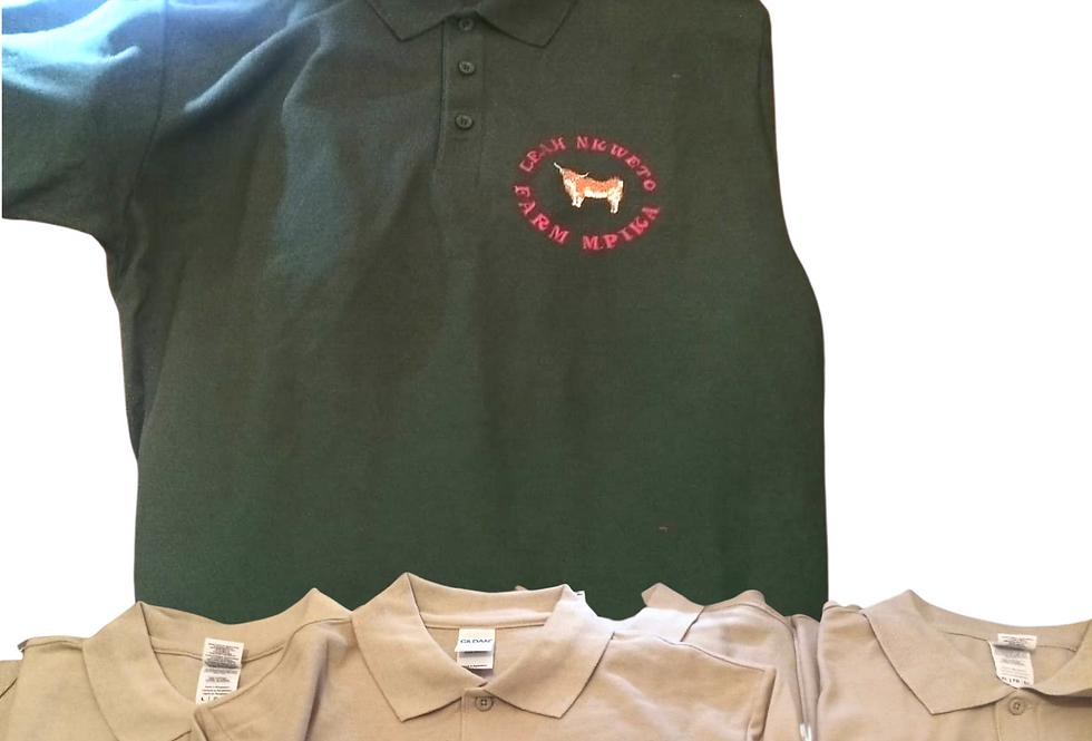 Embroidered Polo T-Shirt Custom Logo With Company Name