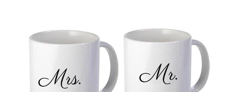 Mr. Mrs. 2 Set Of 11oz Mug