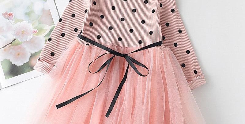Children Mesh Dress Rabbits Pattern Princess Dresses