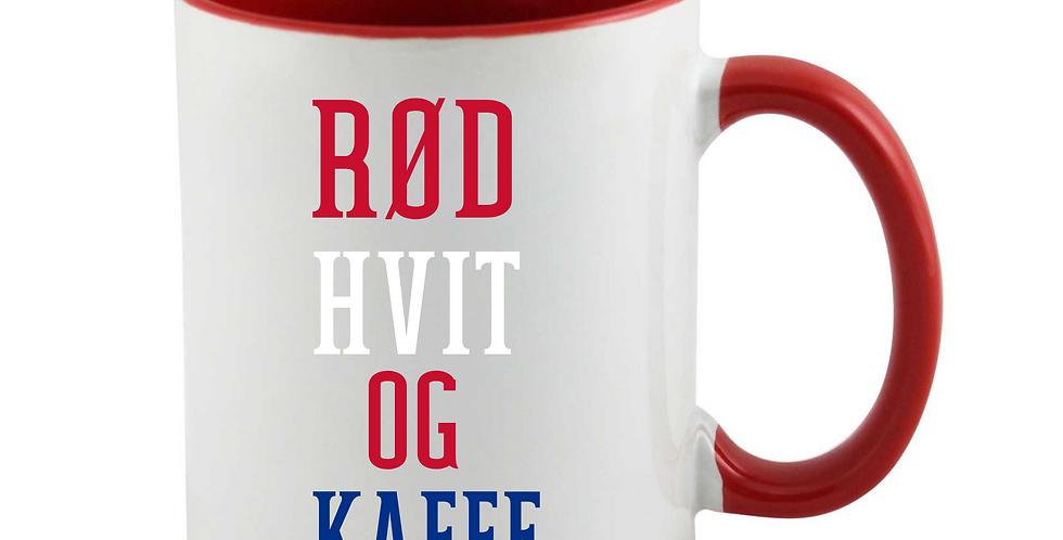 Rød Hvit Og Kaffe Mug
