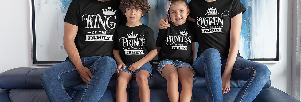 King Queen Prince Princes Of The Family T-Shirt