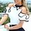 Thumbnail: Elegant Leisure Casual Top Ladies Sleeveless Stand Collar Shirt