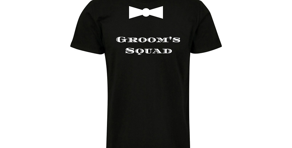 Groom's Squad Custom Wedding T-Shirt