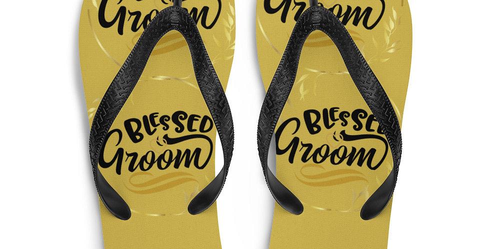 Wedding Flip-Flops Blessed Groom