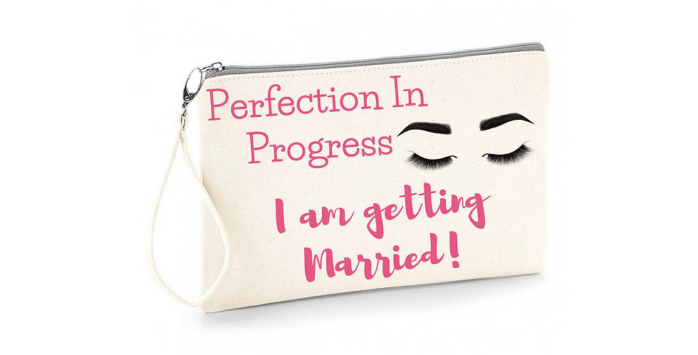 Wedding Personalised Perfection In Progress I Am Getting Married