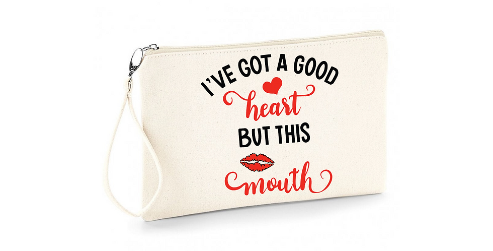 Wedding Accessory Bag I've Got A Good Heart But This Mouth