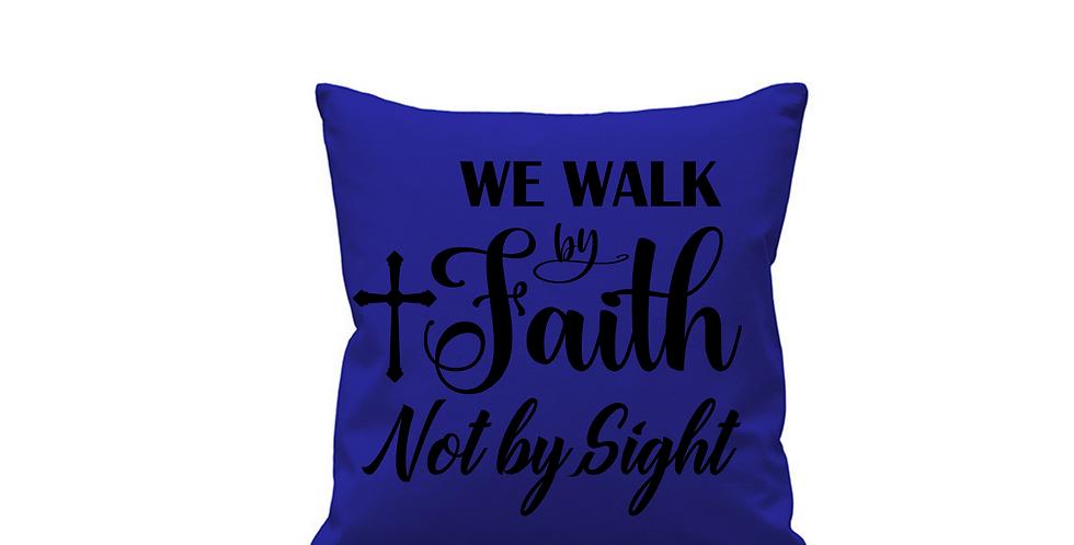 Wedding Cushion Cover We Walk By Faith Not By Sight