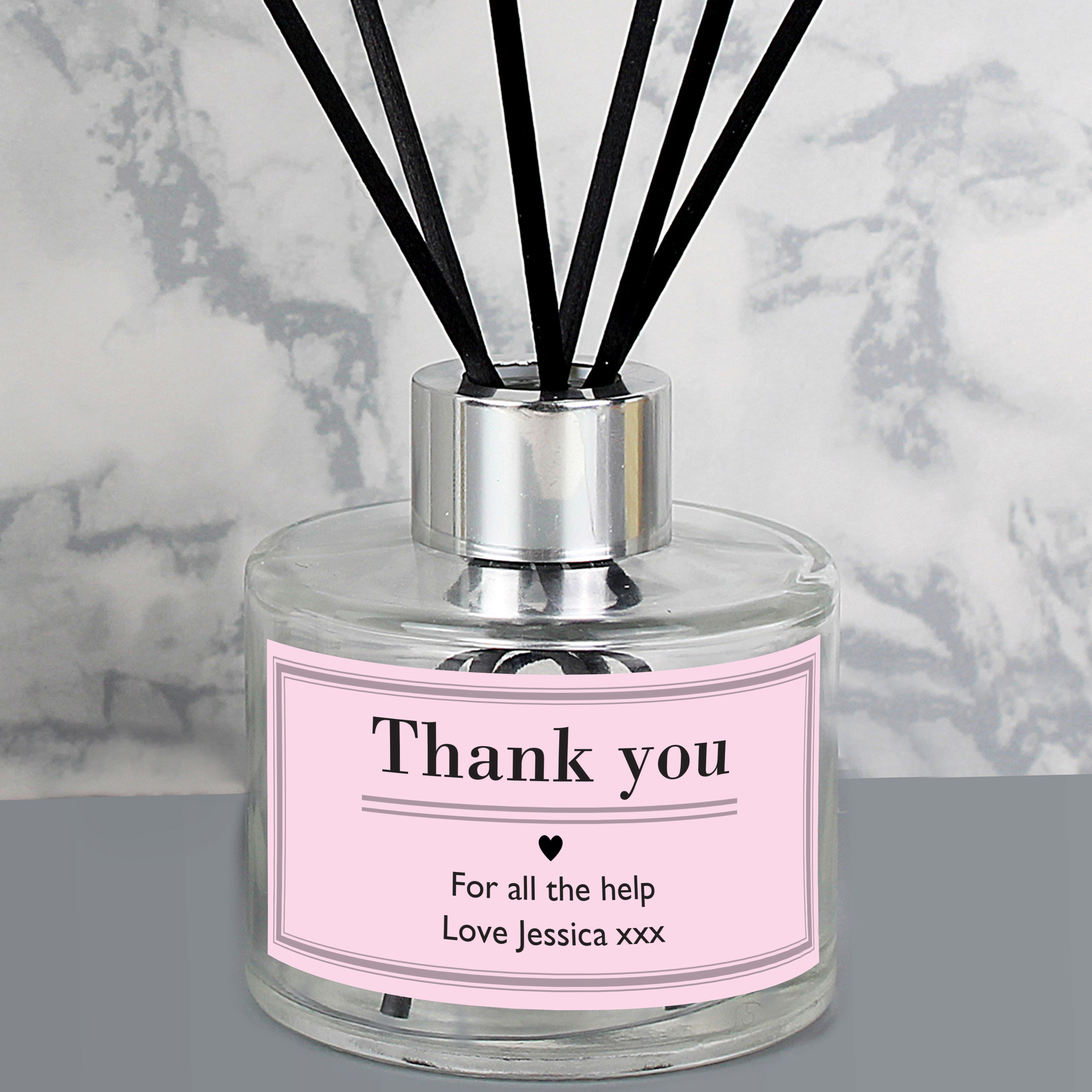 Reed Diffuser Personalised Classic Pink