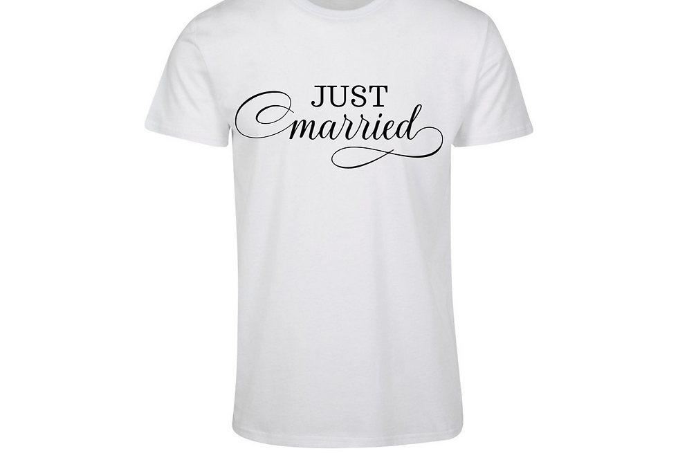 Just Married Personalised Couple T-Shirt