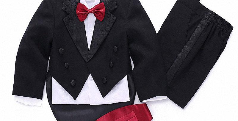 Formal Children's Clothes for Boys White/Balck