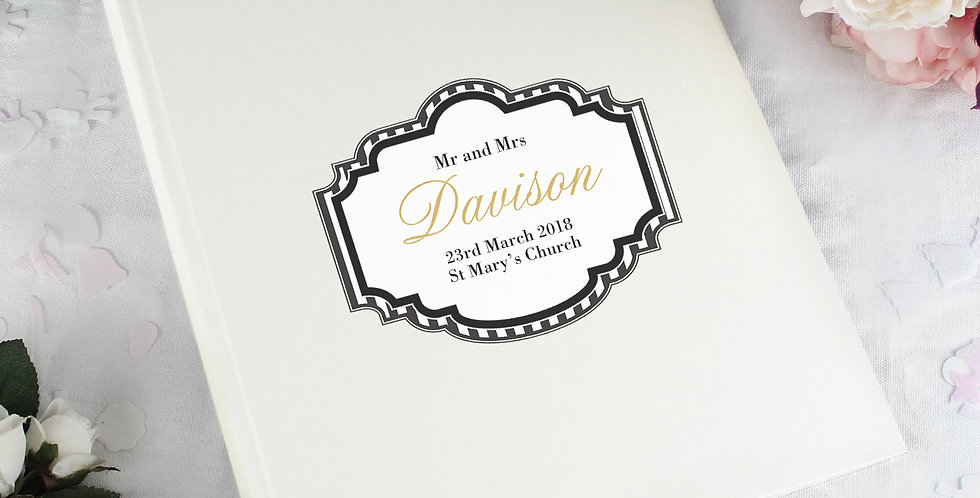 Album with Sleeves Personalised Art Deco Striped