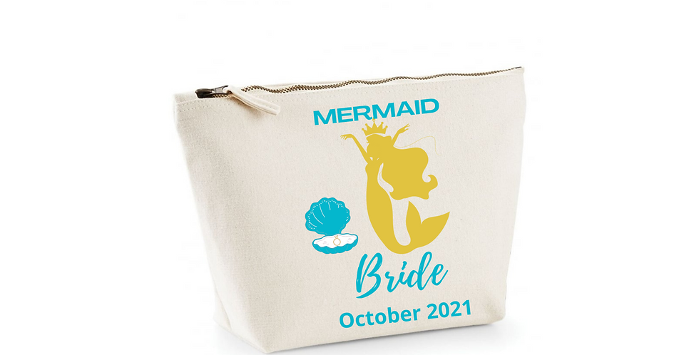 Wedding  Personalised Accessory Bag Mermaid Bride