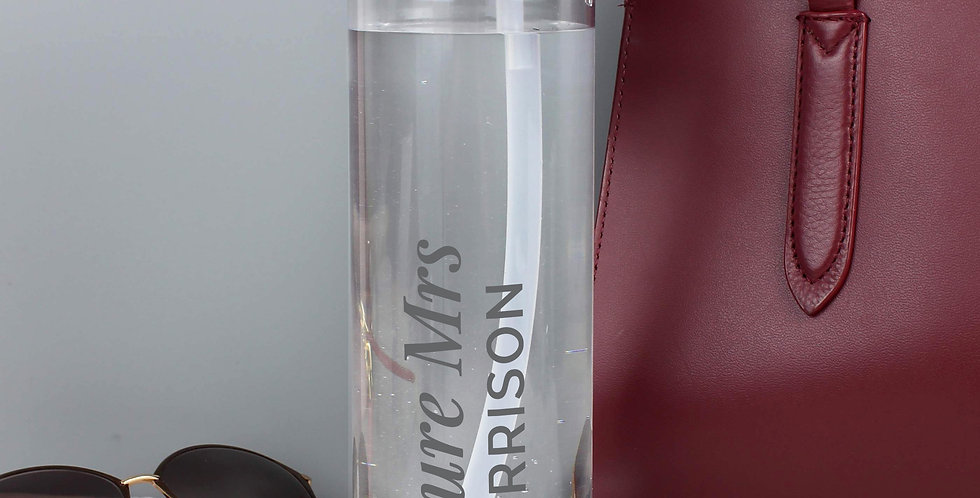 Water Bottle Personalised Gold Heart Island
