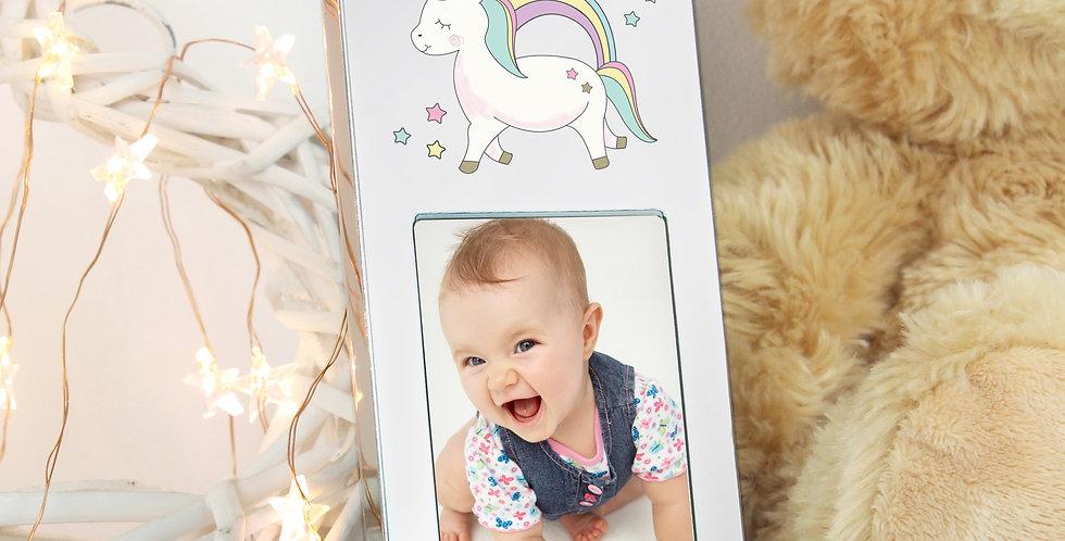 Personalised Baby Unicorn 3x2 Photo Frame