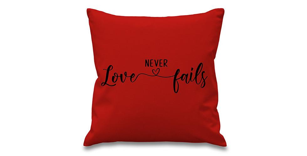 Wedding Cushion Cover Love Never Fails