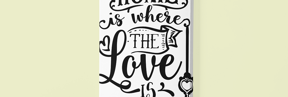 """Home Is Where The Love Is 20X20""""Canvas-Home Décor"""