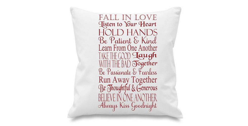 Wedding Cushion Cover Fall In Love