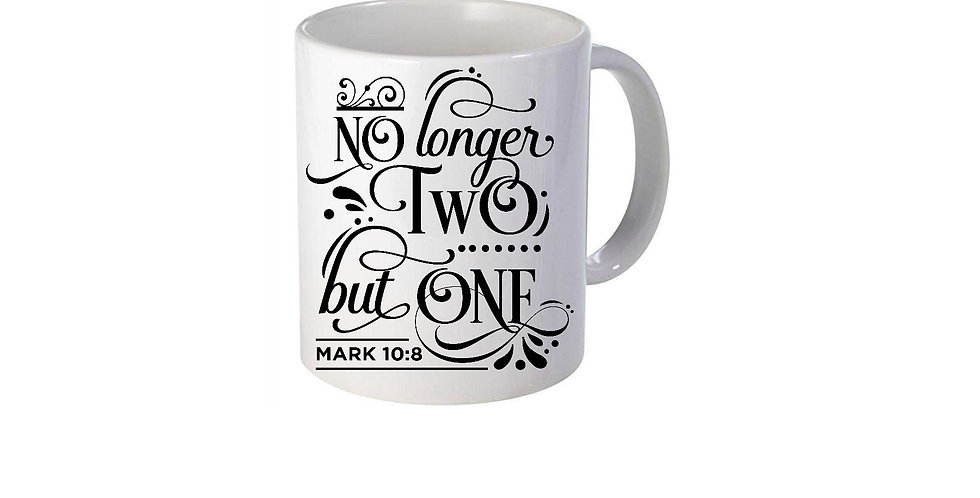 No Longer Two But One Mug