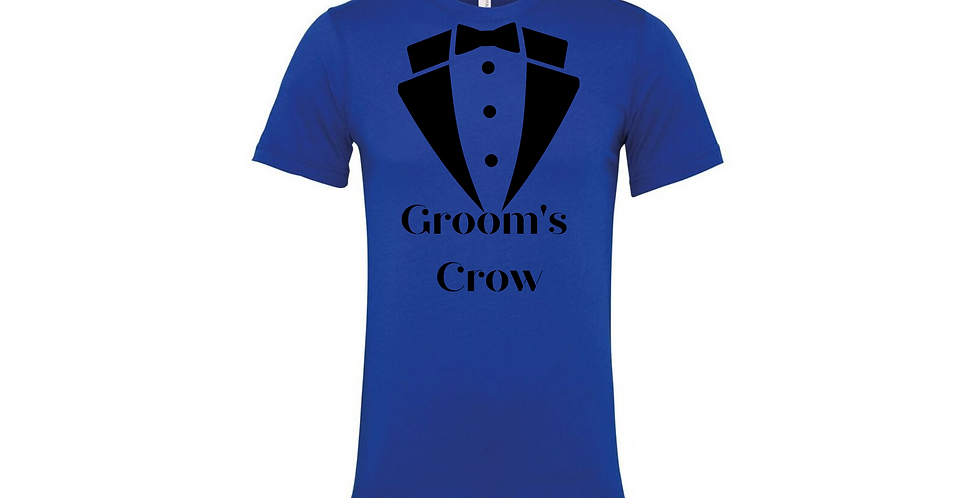 Grooms Crow Custom Wedding T-Shirt