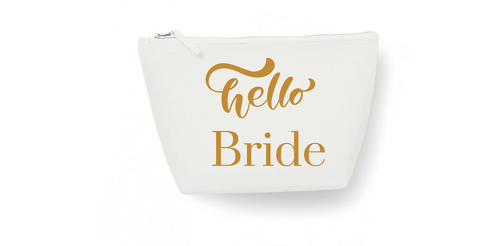 Wedding Accessory Bag Personalised Hello Bride