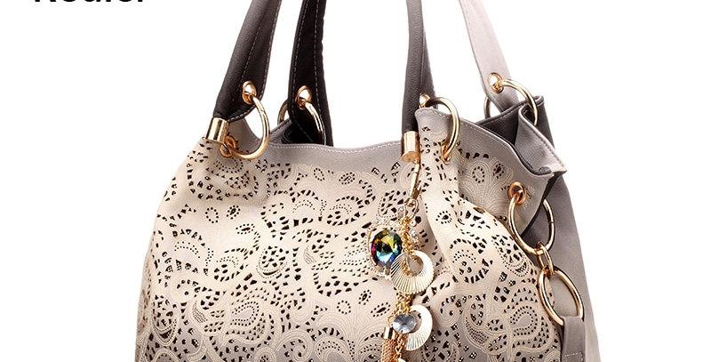 Handbags Hollow Out Ombre Floral Print Shoulder Crossbody Bags