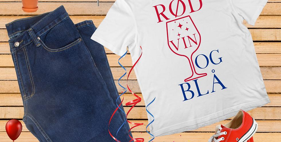 Rød Vin Og Blå T-Shirt