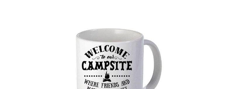 Welcome To Our Campsite 11oz Mug