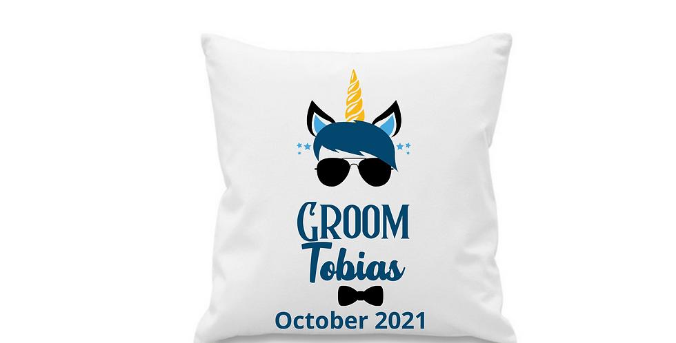Wedding Personalised Cushion Cover Groom